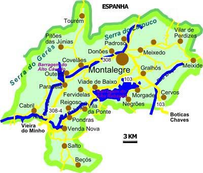 montalegre mapa Heróis do Homem e Cávado: Vila Real   Montalegre montalegre mapa