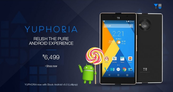 New YuPhoria Stock Android 5 1 1 Update & No Cyanogen OS