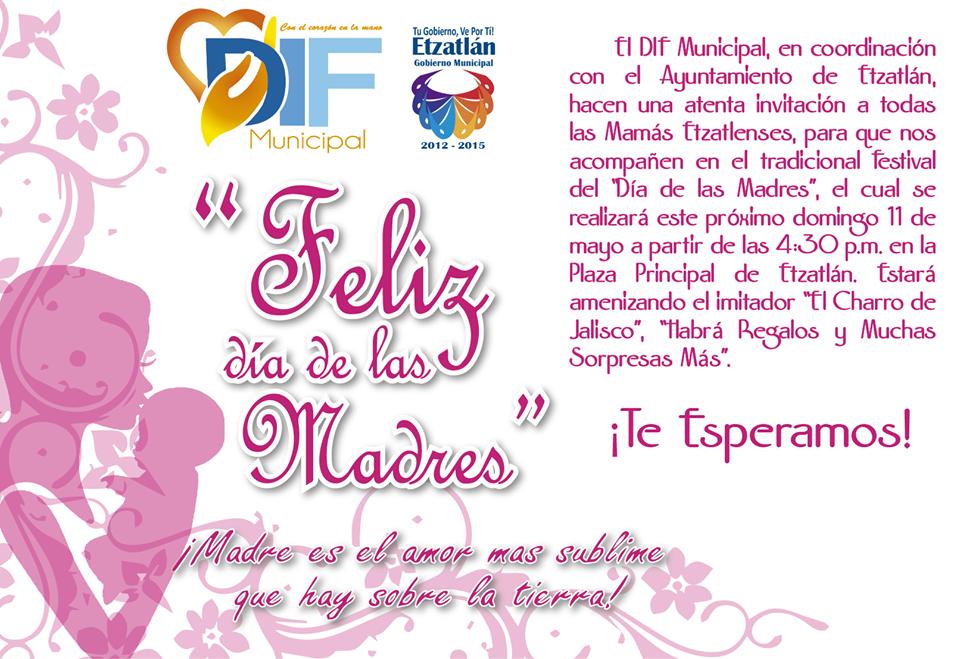 Invitacion DÍa De Las Madres RegiÓn: Blog De Información De Etzatlán: Agenda De Actividades