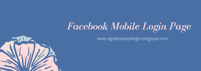 Facebook Mobile Login Page