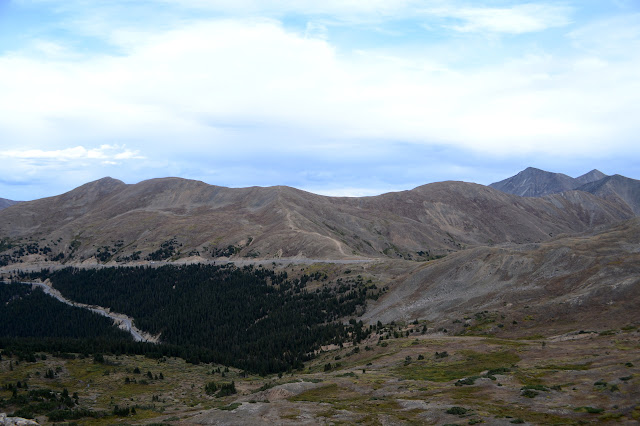Loveland Pass and eastern peaks