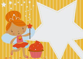 Para hacer invitaciones, tarjetas, marcos de fotos o etiquetas, para imprimir gratis de Hadas Bebés.