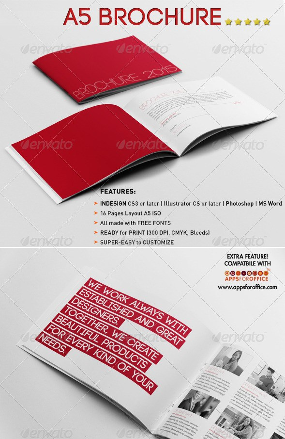 Free Premium Brochure Templates Photoshop PSD InDesign AI - A5 brochure template