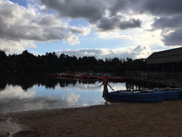 Sasha on beach at Center Parcs