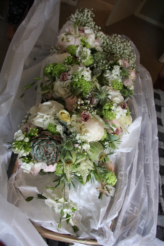 wedding bouquets for brides blush green amp ivory for amp s 8509