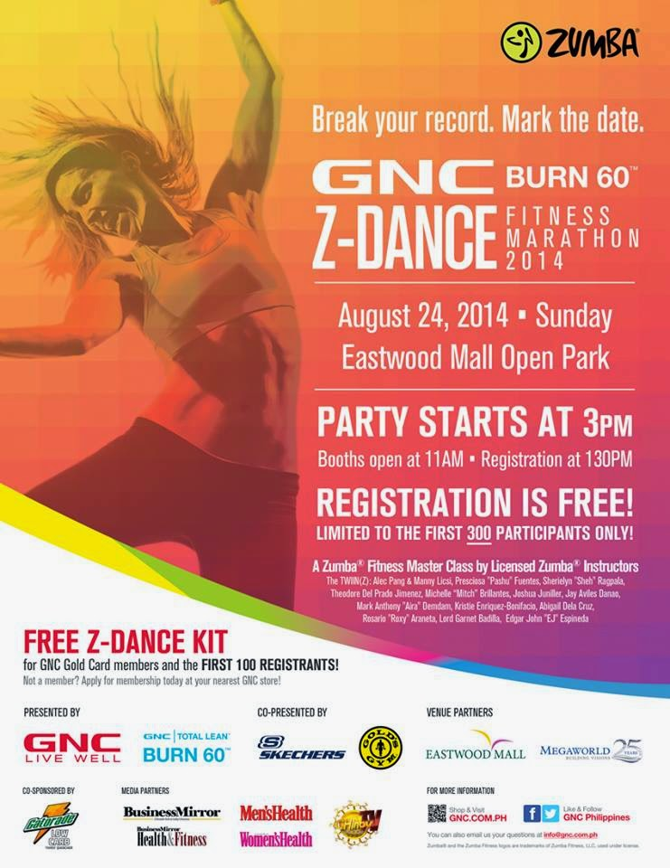 Where To Zumba: GNC Burn 60 Z-Dance Fitness Marathon 2014