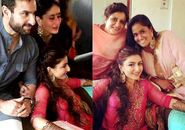Soha Ali Khan with friends and family at her Mehndhi
