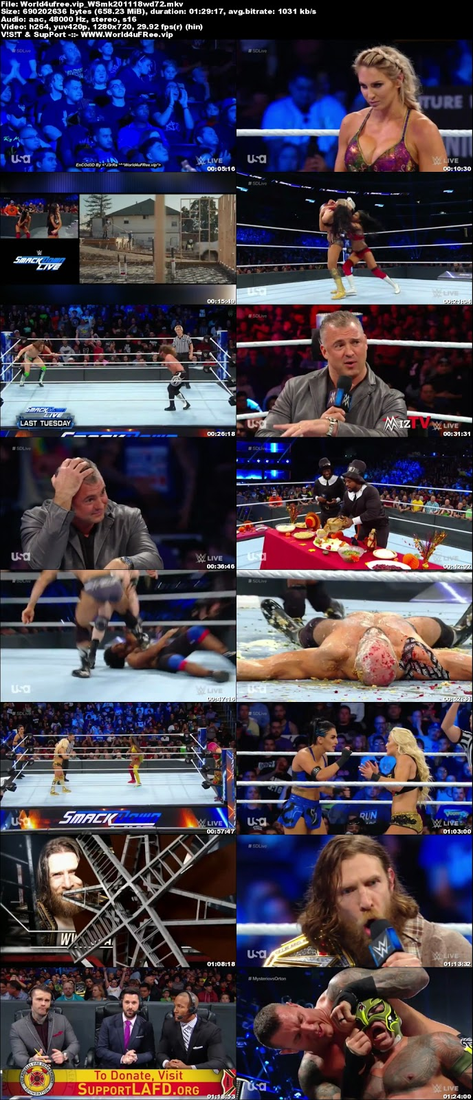 WWE Smackdown Live 20 NOVEMBER 2018 720p HDTV 600MB x264tv show wwe WWE Smackdown Live 23 OCTOBER 2018 HDTV 480p 650MB x264 compressed small size free download or watch online at world4ufree.vip