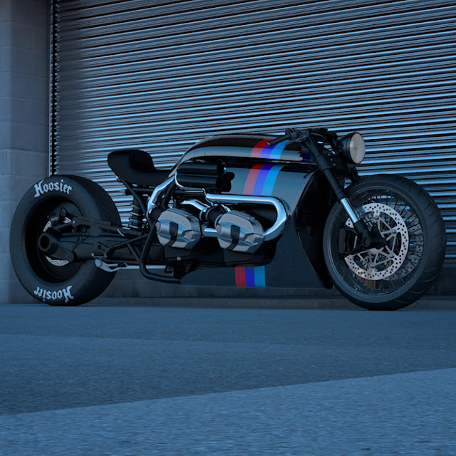 BMW RNineT Twin Engine Turbo design by Ziggy Moto