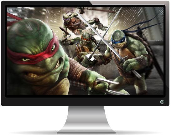 4 Tortues Ninjas Attaquent - Fond d'Écran en Full HD 1080p