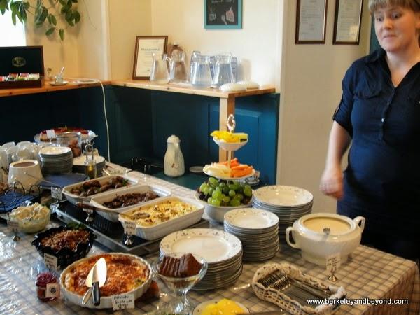 Klausturkaffi restaurant at Gunnar Gunnarsson Museum at Skriduklaustur in Iceland