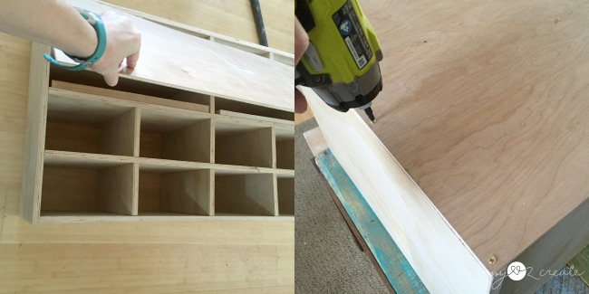 adding back to shoe cubby dresser