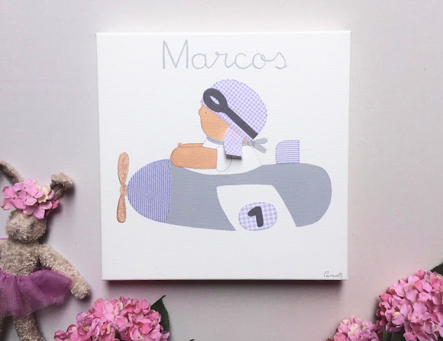 cuadro infantil personalizado pintado a mano habitaciones infantiles