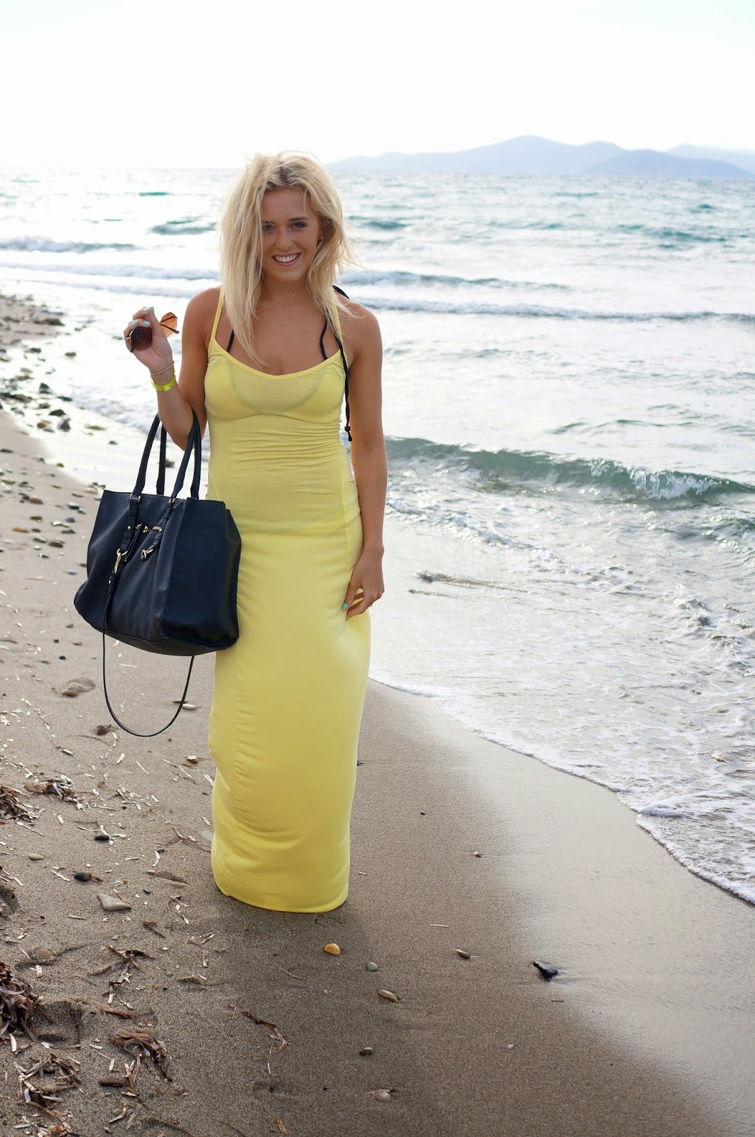 boohoo yellow maxi dress