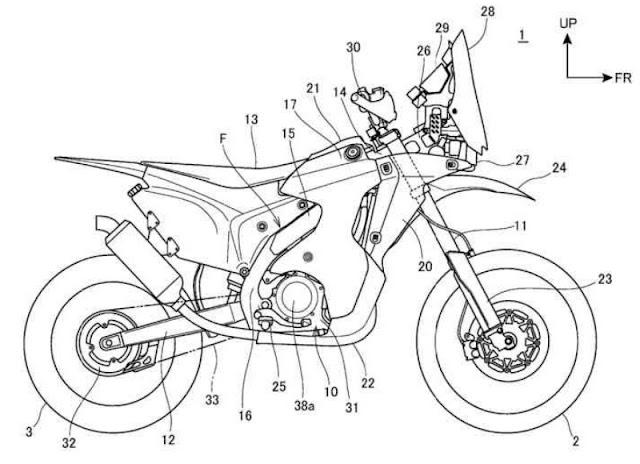 voromv moto  novedades 2017  honda patenta su crf 450