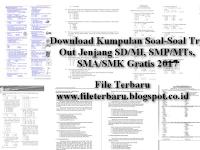 Download Kumpulan Soal-Soal Try Out Jenjang SD/MI, SMP/MTs, SMA/SMK Gratis 2017