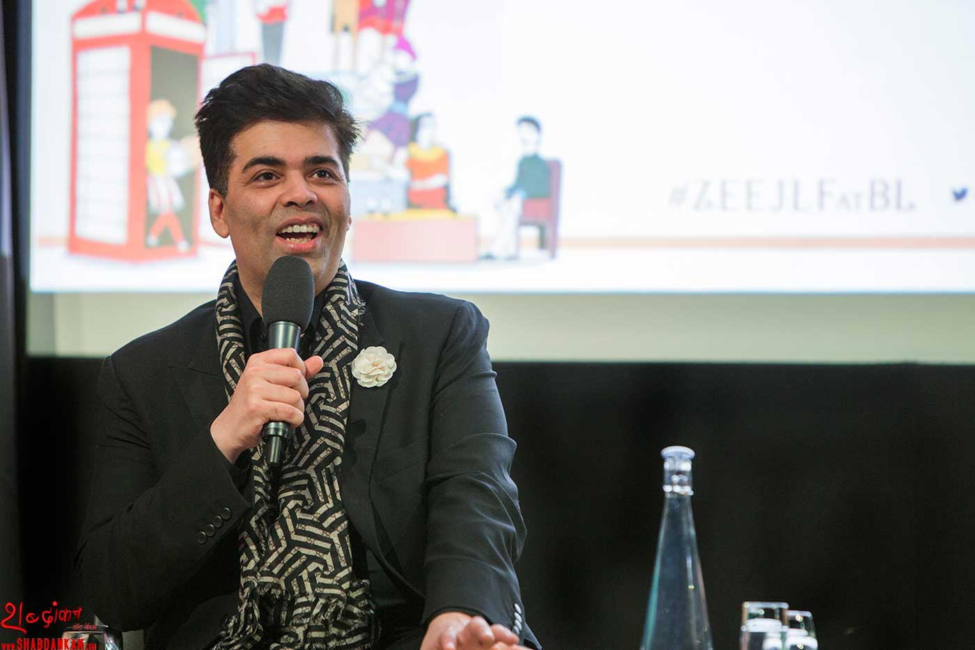 An-Unsuitable-Boy_Karan-Johar-in-conversation-with-Rachel-Dwyer_ZEE-JLF-at-British-Library_Photo-by-Stuart-Armitt
