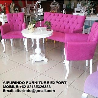 italian furniture design, classic italian chair white color from jepara supplier