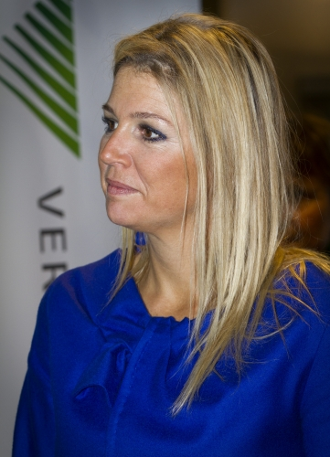 Dutch Crown Princess Maxima visits Qredits microfinance and pension market for entrepreneurs in Amersfoort
