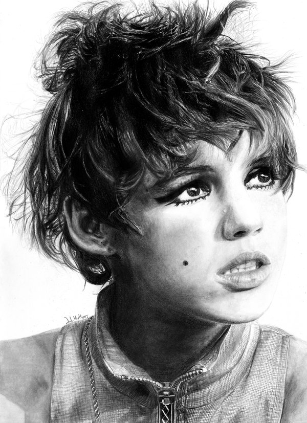 04-Edie-Sedgwick-Valerie-Kotliar-Celebrities-and-Unknown-Immortalised-in-Realistic-Drawings-www-designstack-co