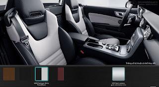 Nội thất Mercedes AMG SLC 43 2019 màu Đen/Trắng Pearl Platinum 865
