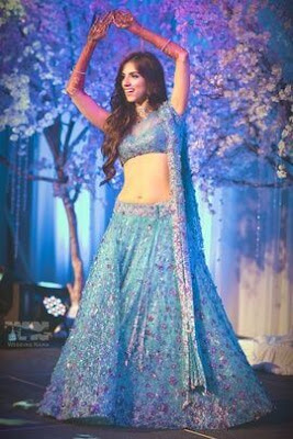 Beautiful Image Of Gorgeous Indian Bride In Blue Color Lehenga.