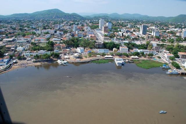 Foto aérea de Corumbá MS
