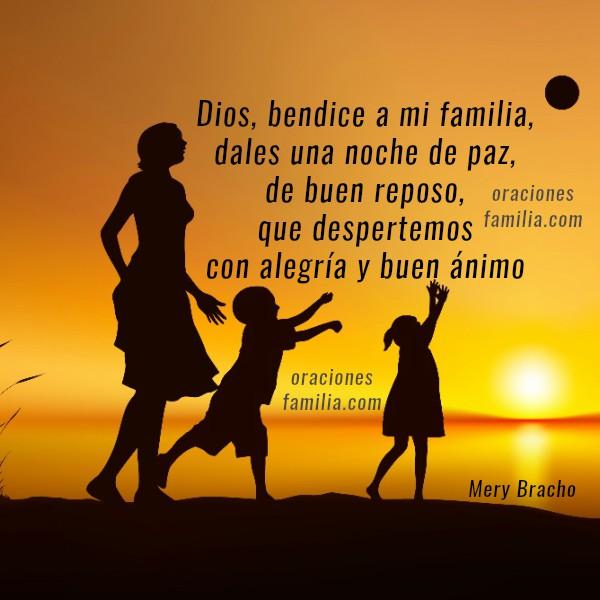 Oración para antes de dormir, buenas noches con oraciones cortas e imágenes cristianas. Tarjetas de buenas noches para facebook con oración corta por Mery Bracho