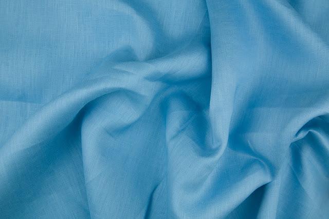Cool Blue Handkerchief Linen Fabric