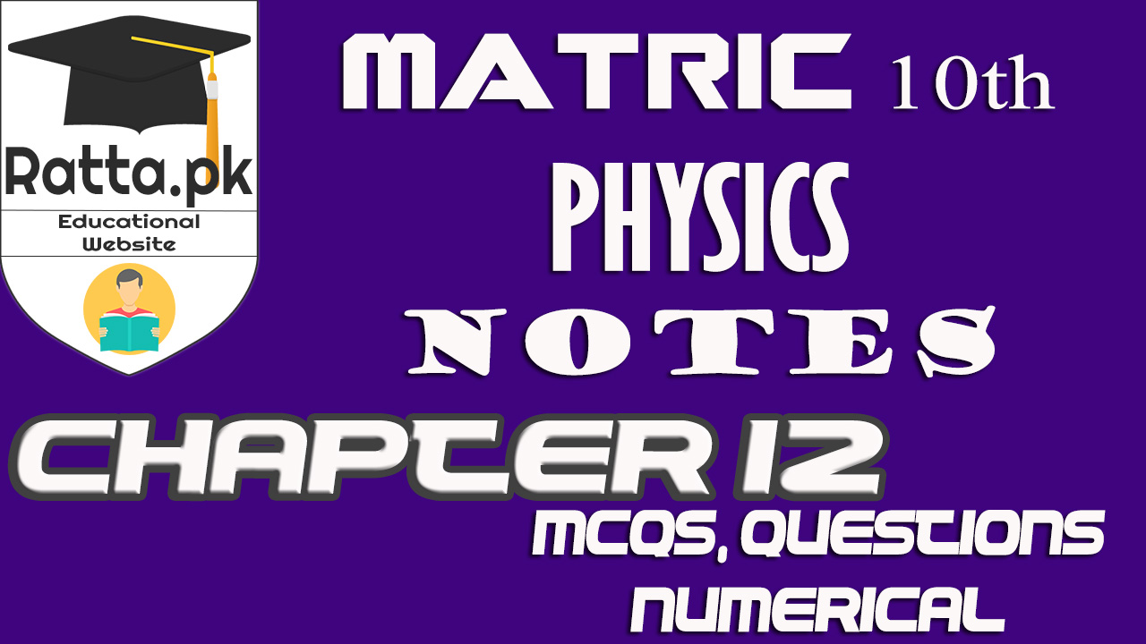 10th Physics Chapter 12 Geometrical Optics Notes |MCQs, Questions & Numerical