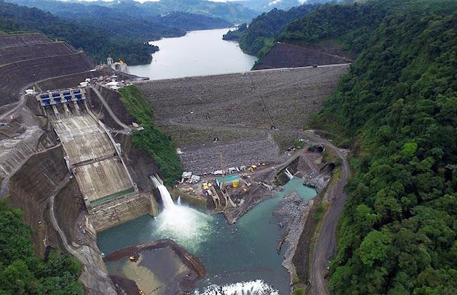 Đập thủy điện Reventazón, nhà máy thủy điện lớn ở Costa Rica và cả khu vực Trung Mỹ. Ảnh: Casa Presidencial.