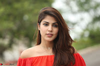 Rhea Chakraborty in Red Crop Top and Denim Shorts Spicy Pics ~  Exclusive 167.JPG