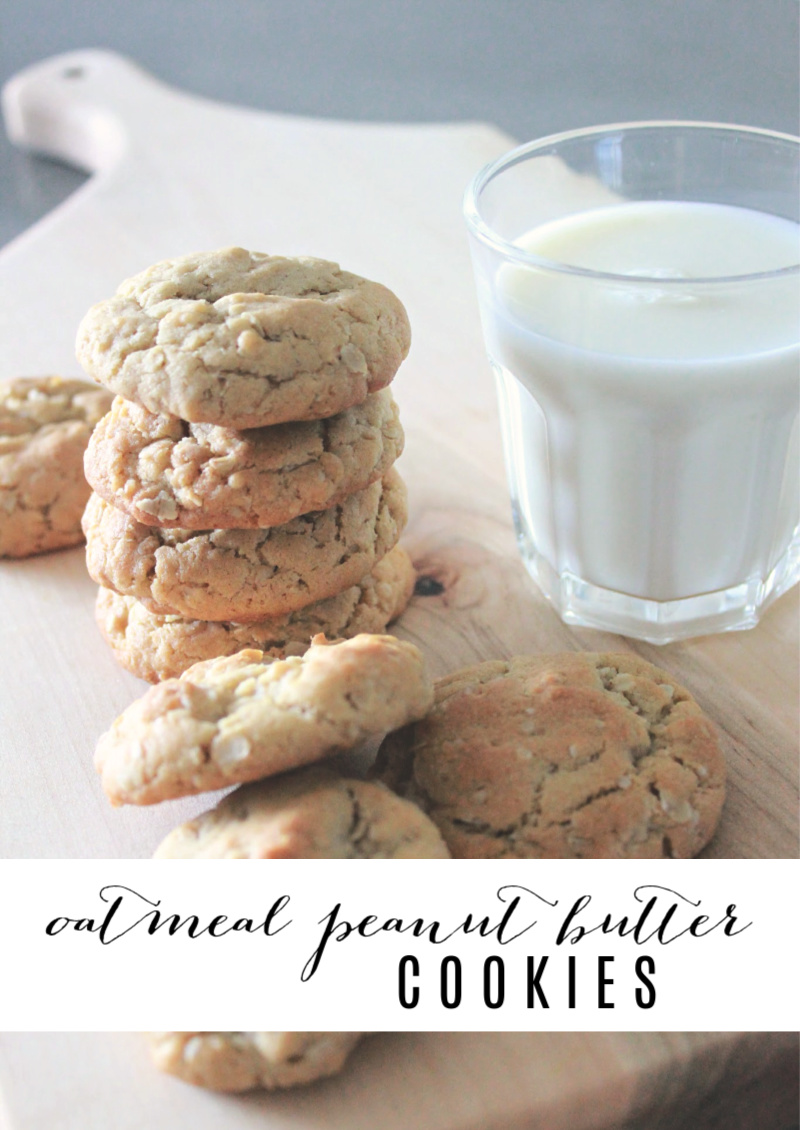 Toddler-Friendly Oatmeal Peanut Butter Cookies