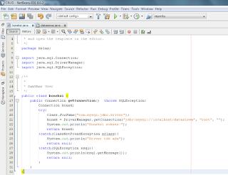 membuat koneksi dengan database di netbeans bahasa java