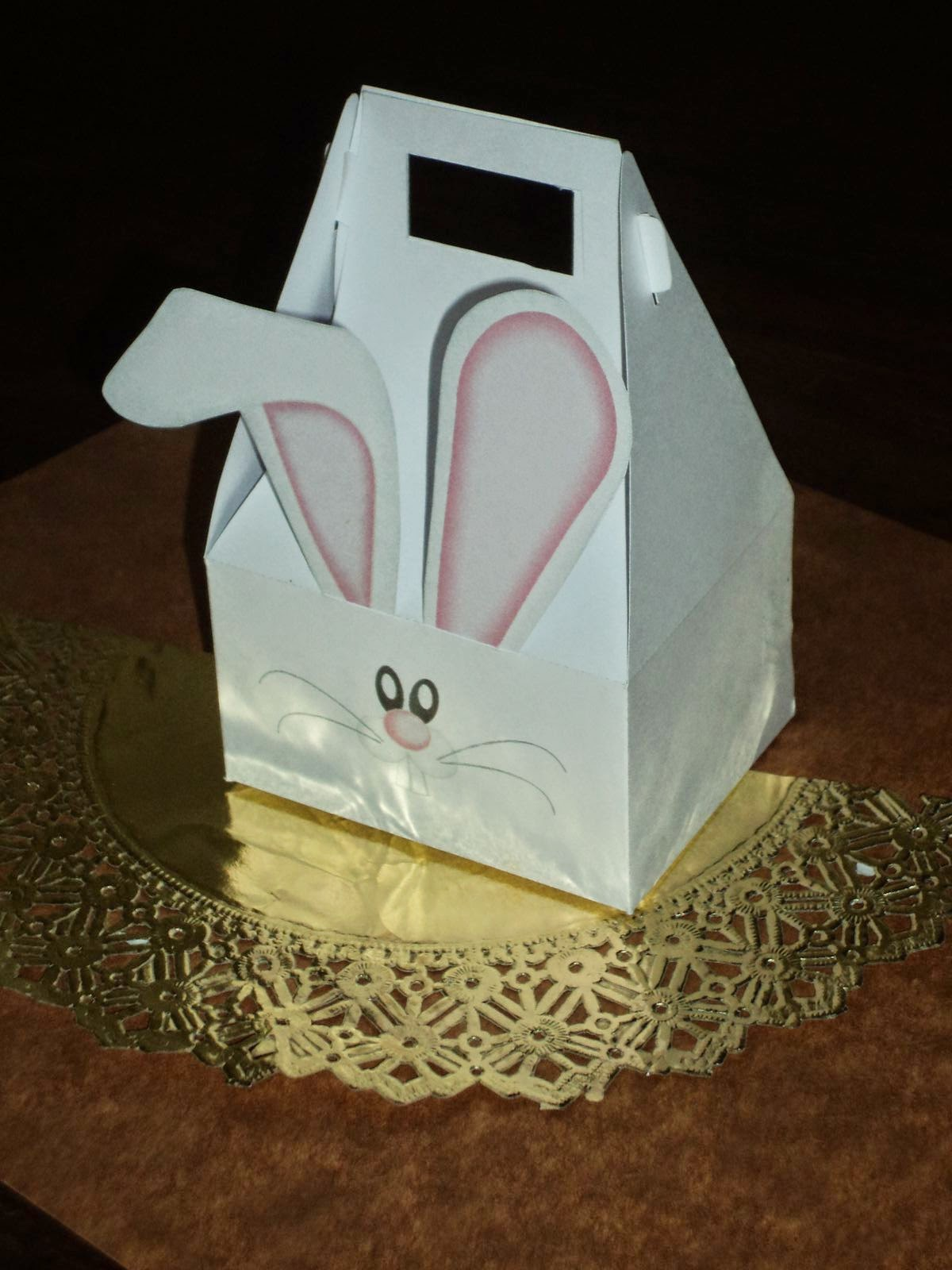 Tutorial de Artesanas Pascua Caja con conejito