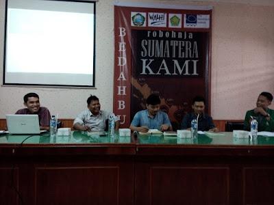 menjadi pembedah bukurobohnja Sumatera Kami