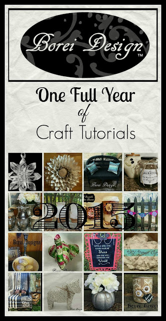 Looking back over a full year of craft tutorials.