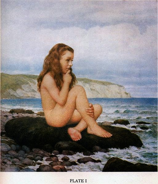 Beatrice Hatch, 30 July 1873. Photograph taken by Lewis Carroll, then colored by Anne Lydia Bond on Carroll's instructions
