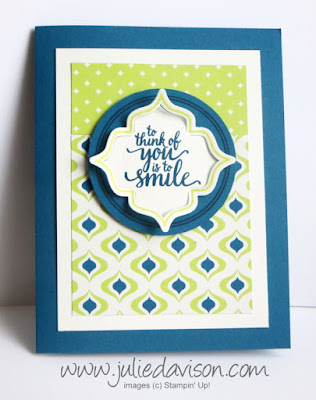 Stampin' Up! Eastern Beauty Thinking of You Card ~ Eastern Palace Suite ~ 2017-2018 Stampin' Up! Annual Catalog ~ www.juliedavison.com