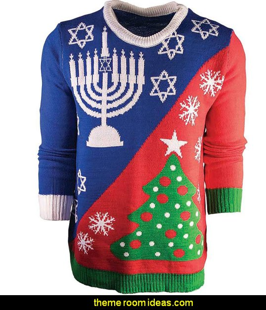 ugly sweater contest   ugly sweaters - Christmas ugly sweaters  - decorate yourself - womens ugly sweaters - ugly mens sweaters - embellished ugly sweaters - fun sweaters - novelty sweaters - Christmas party sweaters - quirky party sweaters -  Christmas party hats