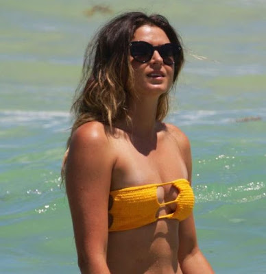 Anastasia Ashley in Yellow Bikini in Miami Beach