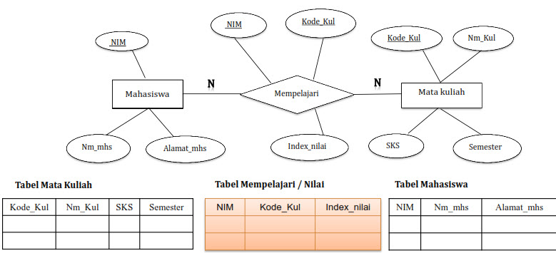 Transformasi Erd Ke Basis Data Fisik Model Data Relational Lanjut