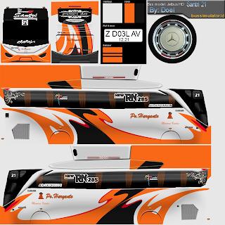 Download Livery Bus Haryanto Orange