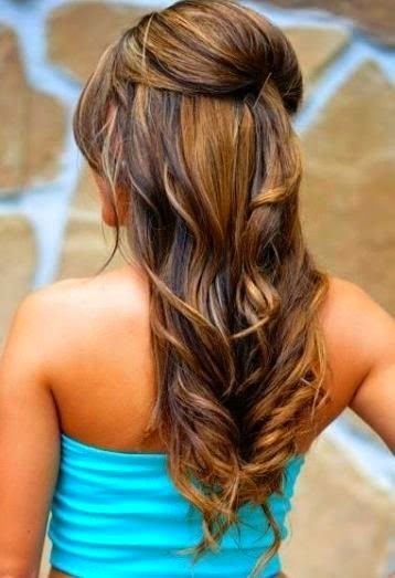 Easy hairstyle with curls}