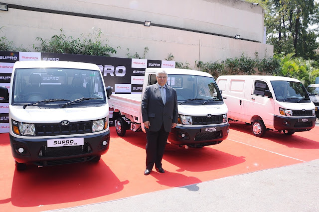 Mr. Vivek Nayer, Chief Marketing Officer, Automotive Division, Mahindra & Mahindra Ltd. at the launch of Supro 26 HP MiniVan and Minitruck