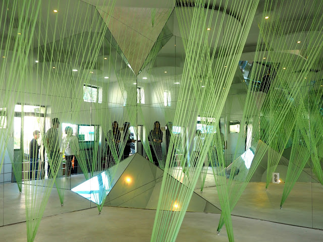 Mirrors and wires in the House of Wind, Gamcheon Village, Busan, South Korea