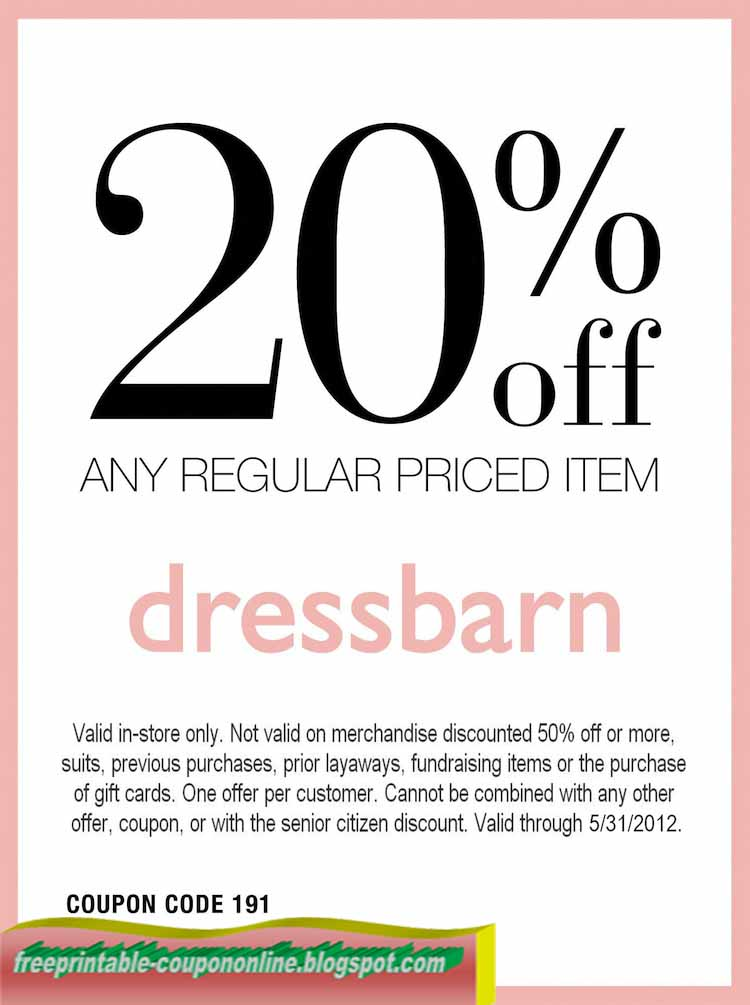 Dress barn coupons october 2018