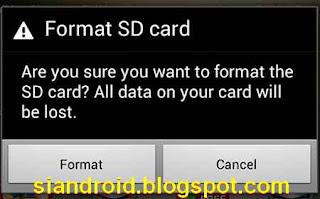 kartu memori minta format
