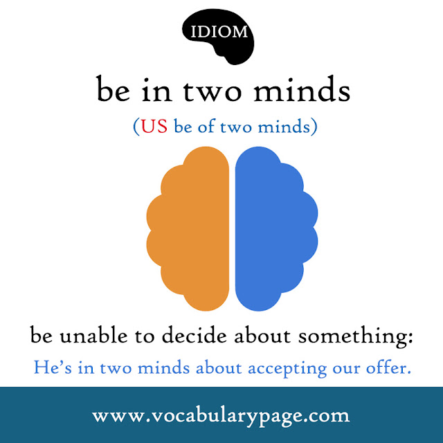 In two minds idiom