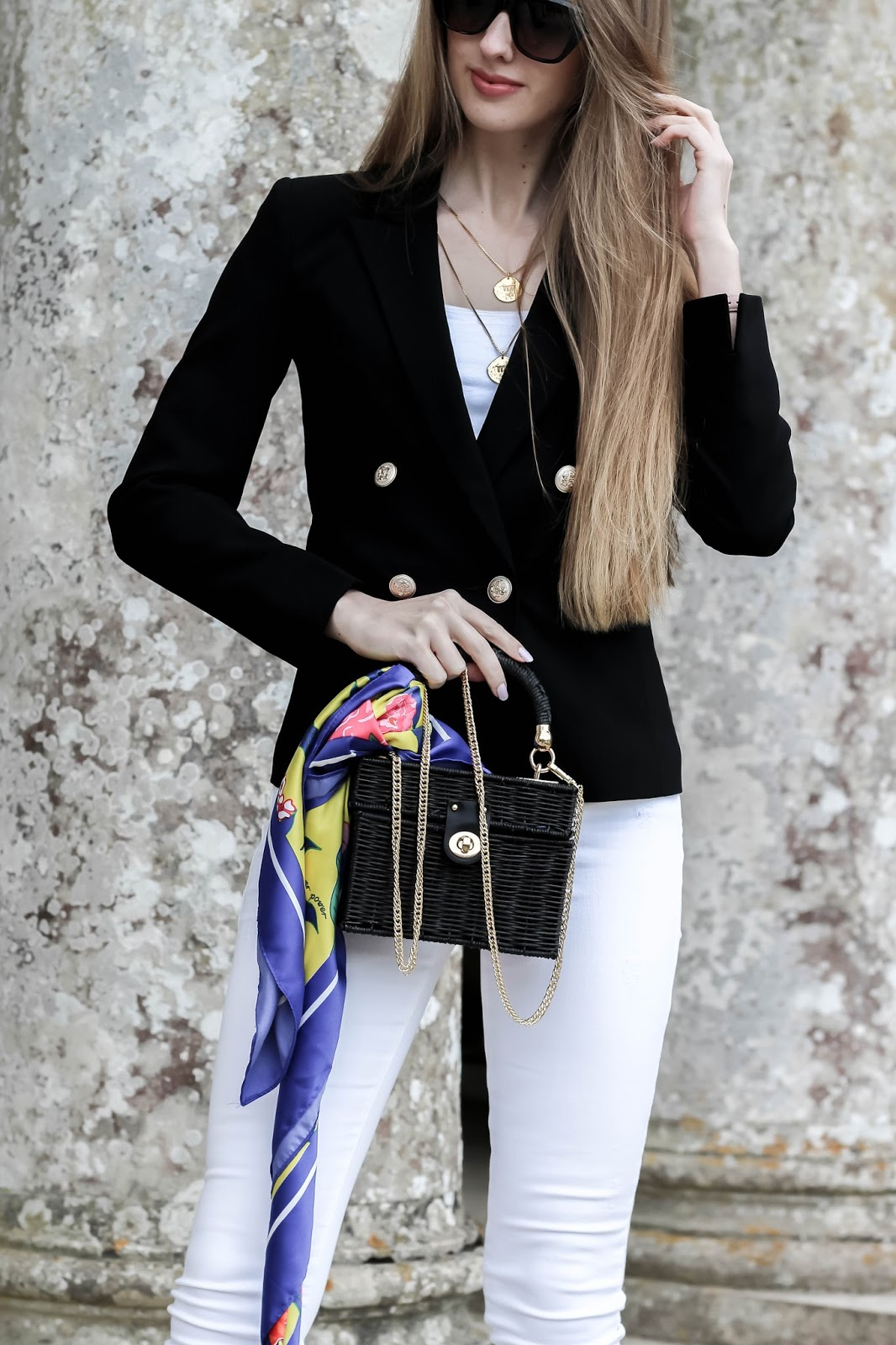Miss Selfridge Black and Gold Blazer Fashion Blog